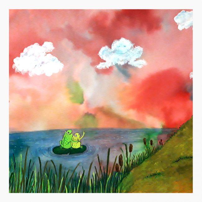 Studio Vol Vertrouwen Overijssel Vriezenveen grafisch ontwerp illustratie kikkers water waterkant wolken