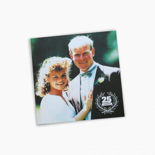 Jubileumkaart 25 jaar getrouwd familie Knoef Jos en Ingrid knoef boerderij koeien