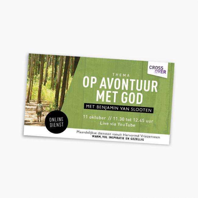 Studio Vol Vertrouwen Overijssel Vriezenveen grafisch ontwerp illustratie Flyer Cross Over Benjamin van Slooten