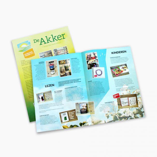 De Akker christelijkboekenhuis christen boeken bijbel folder voorjaar Studio Vol Vertrouwen Overijssel Vriezenveen grafisch ontwerp illustratie