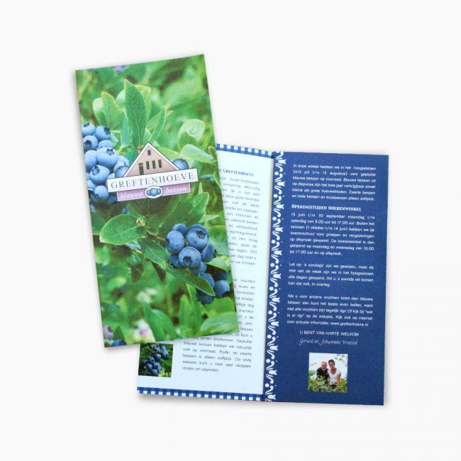 Studio Vol Vertrouwen Overijssel Vriezenveen grafisch ontwerp illustratie blauwe bessen kwekerij de Greftenhoeve folder