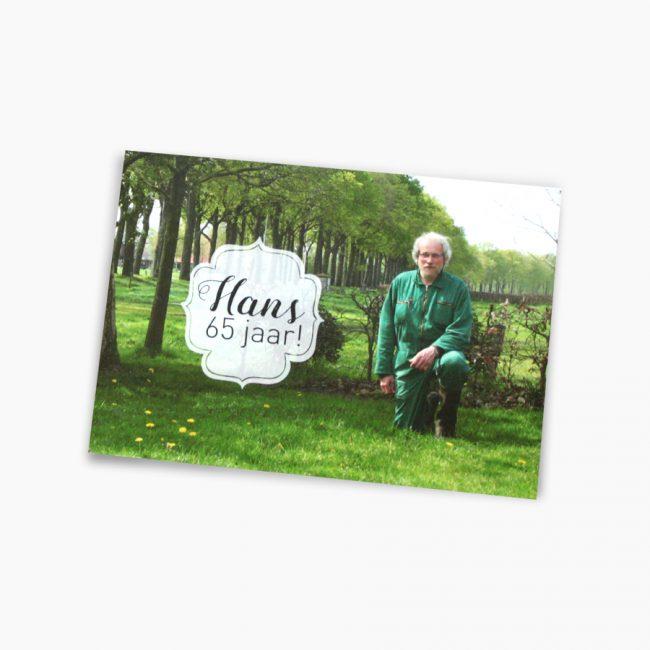 Jubileumkaart 65 jaar boer boerderij koeien Studio Vol Vertrouwen Overijssel Vriezenveen grafisch ontwerp illustratie
