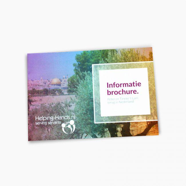 Helping Hands brochure Studio Vol Vertrouwen Overijssel Vriezenveen grafisch ontwerp illustratie
