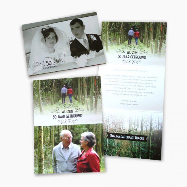 jubileumkaart huwelijk 40 jarig jubileum jubileumkaart Studio Vol Vertrouwen Overijssel Vriezenveen grafisch ontwerp illustratie