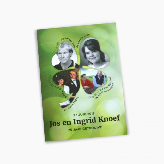 jubileumkaart 25 jaar getrouwd familie knoef jos en ingrid knoef Studio Vol Vertrouwen Overijssel Vriezenveen grafisch ontwerp illustratie