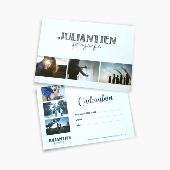 Juliantien fotografie cadeaubon bruidsfotograaf fotograaf overijssel Studio Vol Vertrouwen Overijssel Vriezenveen grafisch ontwerp illustratie