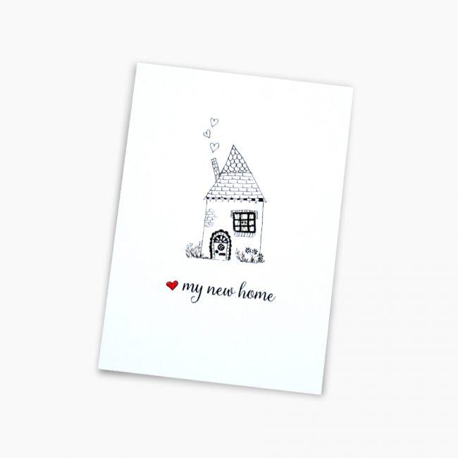 Verhuiskaartje nieuw huis kaartje sleutel nieuwe woning