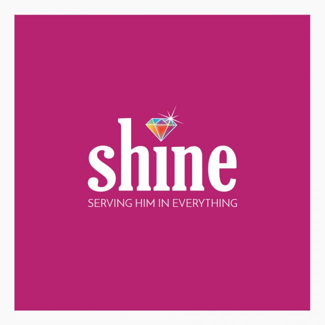 Logo vrouwengroep Shine God geloof straal vrouwen