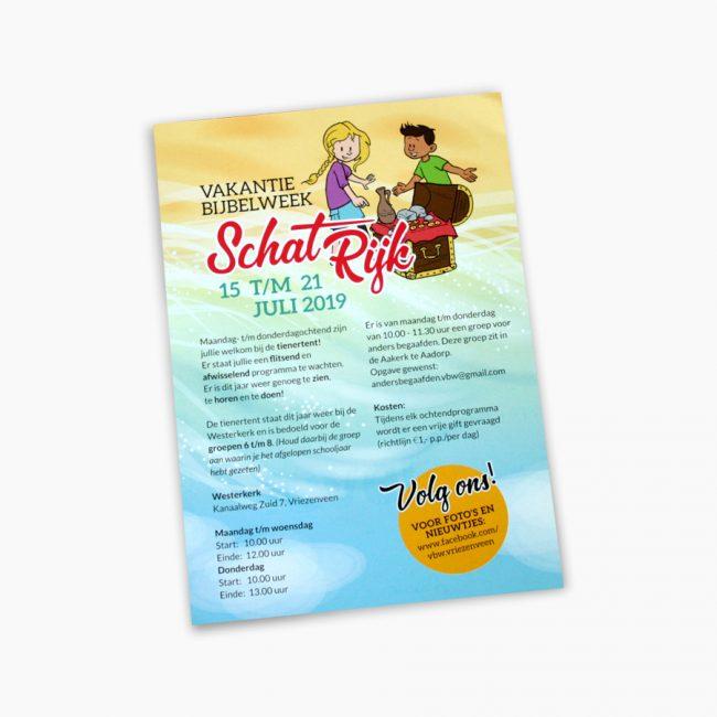 vakantiebijbelweek schatrijk kinderen Studio Vol Vertrouwen Overijssel Vriezenveen grafisch ontwerp illustratie