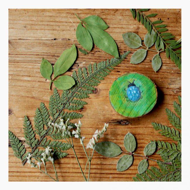 Studio Vol Vertrouwen Vriezenveen Overijssel hout insect torretje blauw blaadjes